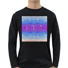Rainbow of Colors, Bling and Glitter Dark Colored Long Sleeve Mens'' T-shirt