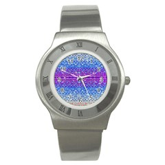 Rainbow of Colors, Bling and Glitter Stainless Steel Watch (Round)