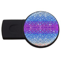 Rainbow of Colors, Bling and Glitter 4Gb USB Flash Drive (Round)