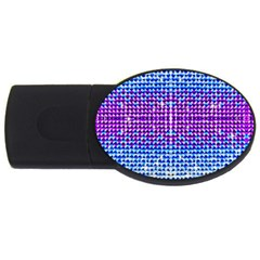 Rainbow of Colors, Bling and Glitter 4Gb USB Flash Drive (Oval)