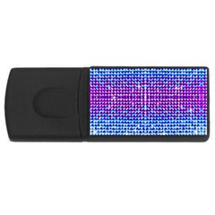 Rainbow of Colors, Bling and Glitter 4Gb USB Flash Drive (Rectangle)