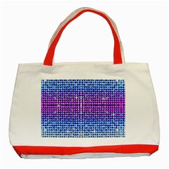 Rainbow of Colors, Bling and Glitter Red Tote Bag