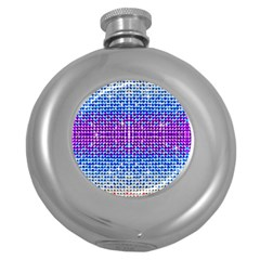Rainbow of Colors, Bling and Glitter Hip Flask (Round)