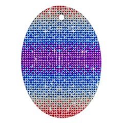 Rainbow Of Colors, Bling And Glitter Oval Ornament (two Sides)