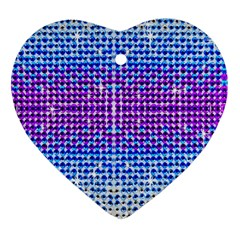 Rainbow of Colors, Bling and Glitter Heart Ornament (Two Sides)