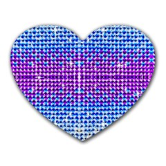 Rainbow Of Colors, Bling And Glitter Mouse Pad (heart)
