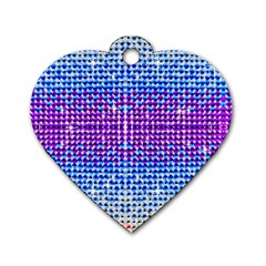 Rainbow of Colors, Bling and Glitter Single-sided Dog Tag (Heart)
