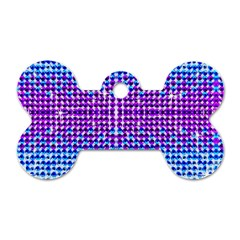 Rainbow of Colors, Bling and Glitter Twin-sided Dog Tag (Bone)