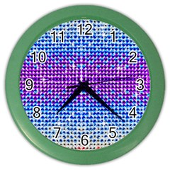 Rainbow Of Colors, Bling And Glitter Colored Wall Clock