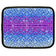 Rainbow Of Colors, Bling And Glitter 12  Netbook Case