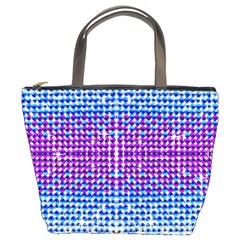 Rainbow Of Colors, Bling And Glitter Bucket Handbag