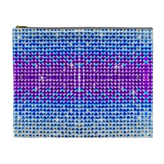 Rainbow Of Colors, Bling And Glitter Extra Large Makeup Purse