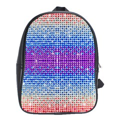 Rainbow of Colors, Bling and Glitter Large School Backpack