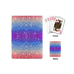 Rainbow Of Colors, Bling And Glitter Playing Cards (mini)