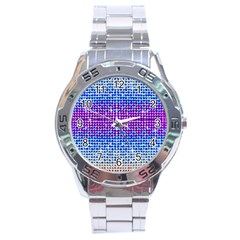 Rainbow of Colors, Bling and Glitter Stainless Steel Analogue Watch (Round)