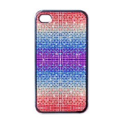 Rainbow of Colors, Bling and Glitter Black Apple iPhone 4 Case