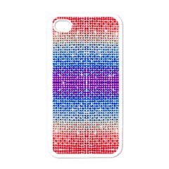 Rainbow of Colors, Bling and Glitter White Apple iPhone 4 Case