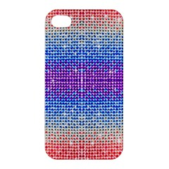 Rainbow Of Colors, Bling And Glitter Apple Iphone 4/4s Premium Hardshell Case