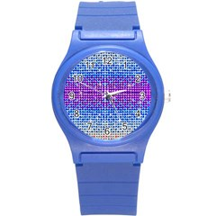 Rainbow Of Colors, Bling And Glitter Round Plastic Sport Watch Small