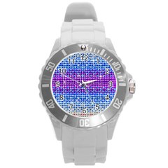 Rainbow of Colors, Bling and Glitter Round Plastic Sport Watch Large