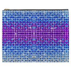 Rainbow Of Colors, Bling And Glitter Cosmetic Bag (xxxl)