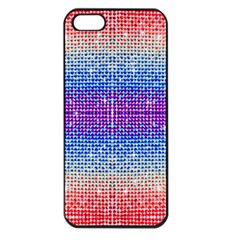 Rainbow Of Colors, Bling And Glitter Apple Iphone 5 Seamless Case (black)