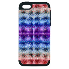 Rainbow of Colors, Bling and Glitter Apple iPhone 5 Hardshell Case (PC+Silicone)