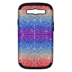 Rainbow of Colors, Bling and Glitter Samsung Galaxy S III Hardshell Case (PC+Silicone)