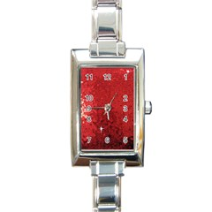 Sequin and Glitter Red Bling Classic Elegant Ladies Watch (Rectangle)