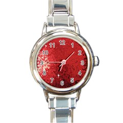 Sequin and Glitter Red Bling Classic Elegant Ladies Watch (Round)