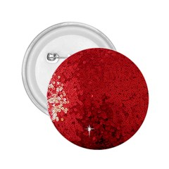 Sequin and Glitter Red Bling Regular Button (Round)