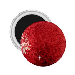 Sequin and Glitter Red Bling Regular Magnet (Round)