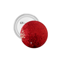 Sequin and Glitter Red Bling Small Button (Round)