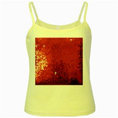 Sequin and Glitter Red Bling Yellow Spaghetti Top