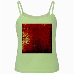 Sequin and Glitter Red Bling Green Spaghetti Top