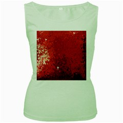 Sequin And Glitter Red Bling Green Womens  T Shirt