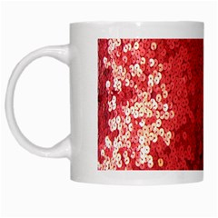 Sequin And Glitter Red Bling White Coffee Mug