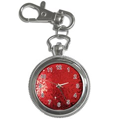 Sequin and Glitter Red Bling Key Chain & Watch