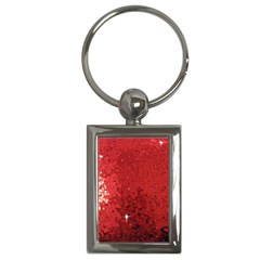 Sequin and Glitter Red Bling Key Chain (Rectangle)