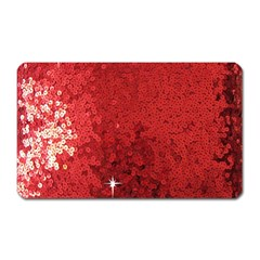 Sequin And Glitter Red Bling Large Sticker Magnet (rectangle)