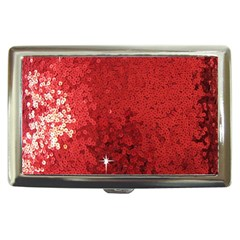Sequin and Glitter Red Bling Cigarette Box