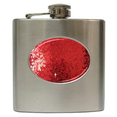 Sequin and Glitter Red Bling Hip Flask