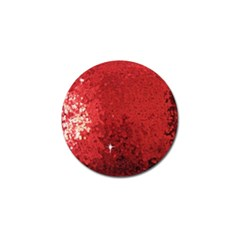 Sequin and Glitter Red Bling Golf Ball Marker