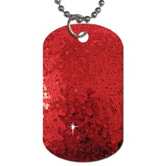 Sequin and Glitter Red Bling Twin-sided Dog Tag