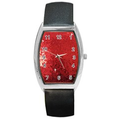 Sequin And Glitter Red Bling Black Leather Watch (tonneau)