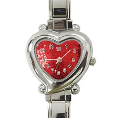 Sequin And Glitter Red Bling Classic Elegant Ladies Watch (heart)