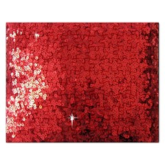Sequin and Glitter Red Bling Jigsaw Puzzle (Rectangle)