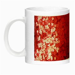 Sequin and Glitter Red Bling Glow in the Dark Mug