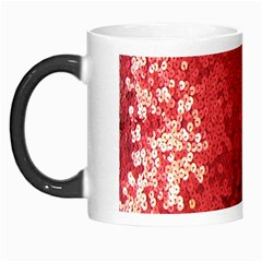 Sequin and Glitter Red Bling Morph Mug