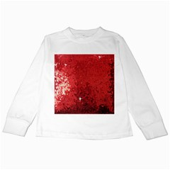 Sequin and Glitter Red Bling White Long Sleeve Kids'' T-shirt